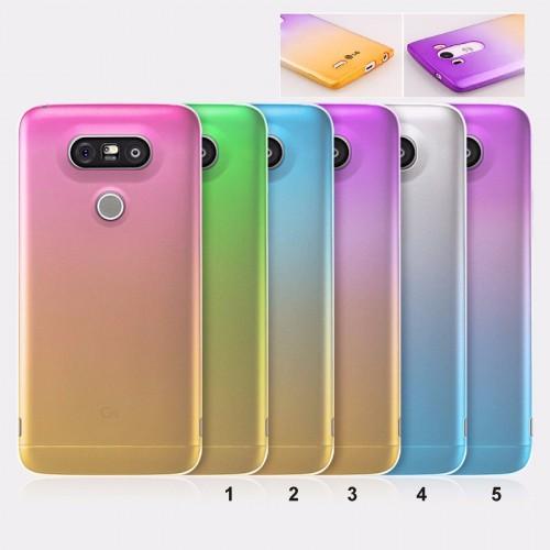 COVER Custodia Case TPU arcobaleno per LG G3 G4 G5 K4 K10 V10 nexus 6 X screen