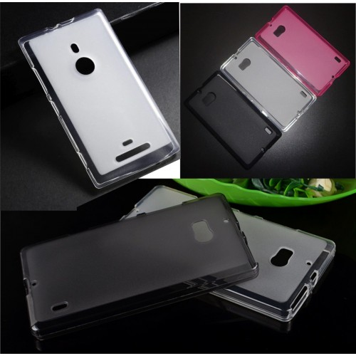 COVER Custodia Case silicone anti skiding parabordi 0.5mm per nokia lumia 930