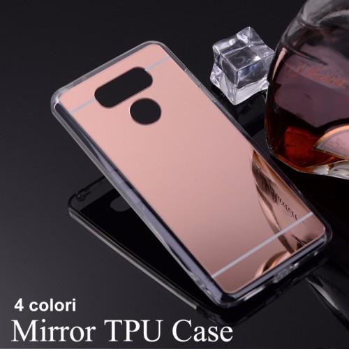 COVER Custodia Case silicone para bordi con retro effetto specchio per LG G6