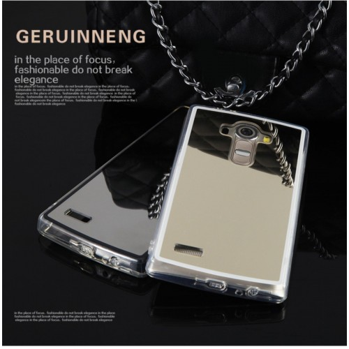 COVER Custodia Case silicone para bordi effetto specchio per LG G3 G4 G5 G6 V10