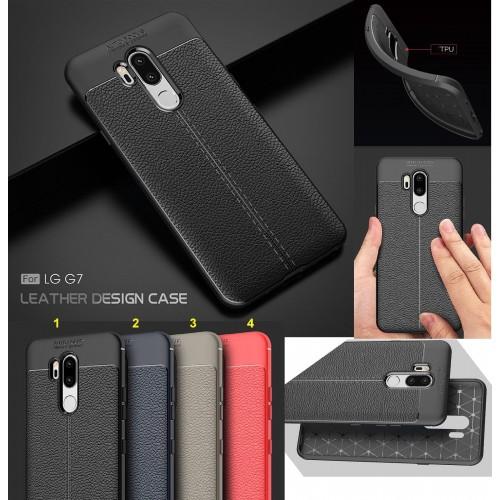 COVER Custodia Case silicone preformato effetto pelle antiscivolo per LG G6 G7