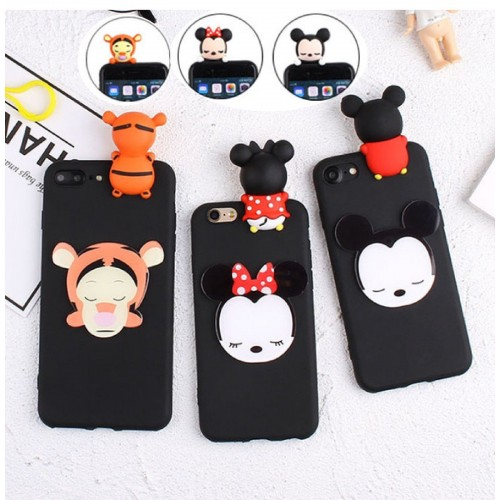 COVER Custodia Case silicone tiger minnie mickey per LG G5 G6 G7 Q6 K4 K7 K8 K10