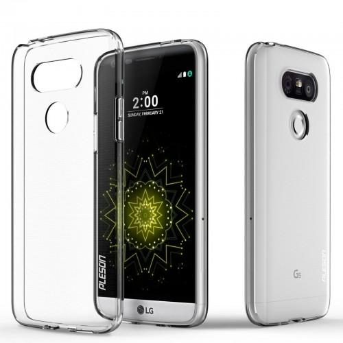 COVER Custodia Case silicone tpu antiscivolo 0.4 mm trasparente per LG G5 H850