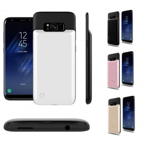 COVER Custodia carica batteria powerbank 4000 mah per Samsung Galaxy S8 & Plus