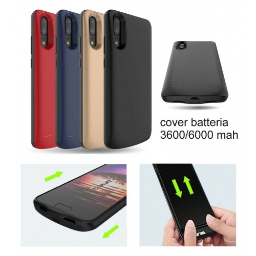 COVER Custodia caricabatteria intelligent powerbank 6000mah per huawei P20 & Pro