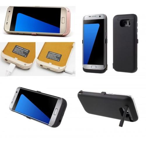 COVER Custodia caricabatteria powerbank 6500 mah per Samsung Galaxy S7 & Edge