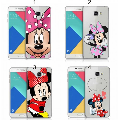 COVER Custodia case Plastica minnie 3D per Samsung Galaxy A3 A5 A7 J1 J5 J7 2016