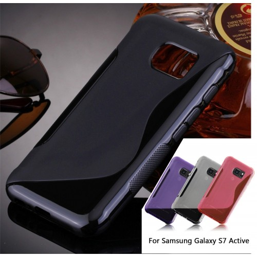 COVER Custodia case in silicone 0.5 mm antiscivolo per Samsung Galaxy S7 Active
