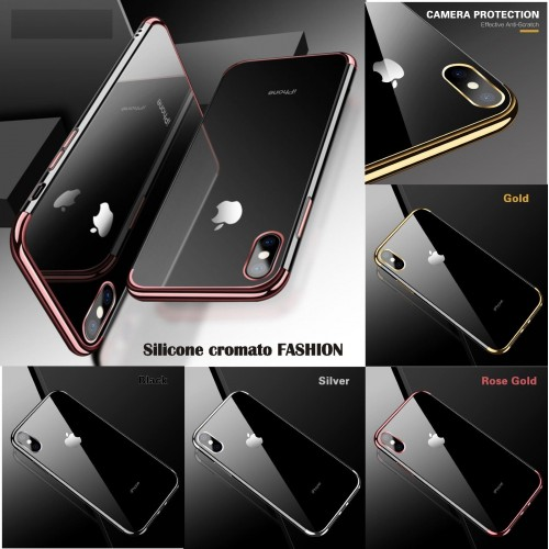COVER Custodia case in soft silicone EFFETTO CROMATO per iphone 6 6S 7 8 Plus X