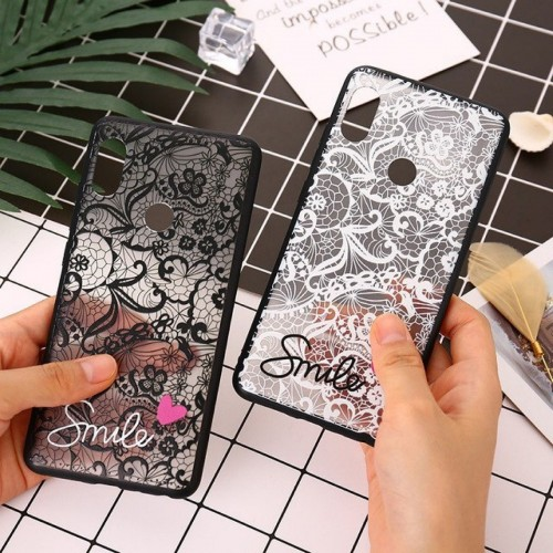COVER Custodia case plastic antiscivolo fiori smile per apple iphone X XR XS Max