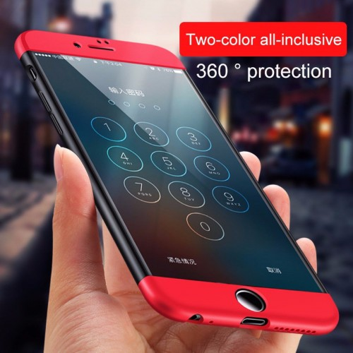 COVER Custodia case protezione 360° design bicolore per  iphone 5 SE 6 7 8 Plus