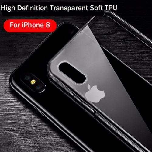 COVER Custodia case silicone TPU preformato parabordi camera per iphone 8 Plus X