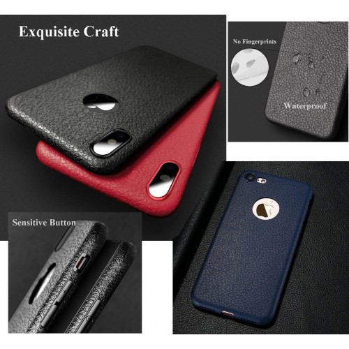 COVER Custodia case silicone antiurto effetto pelle per apple iphone X XR XS Max