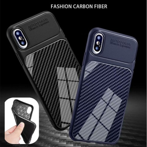 COVER Custodia case silicone fibra di carbonio per apple Iphone 5 6 7 8 Plus X