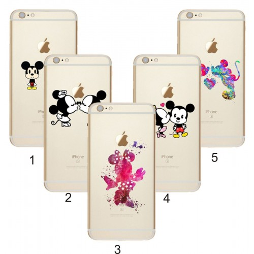 COVER Custodia case silicone fumetti minnie mickey disney per iphone 7 8 & Plus