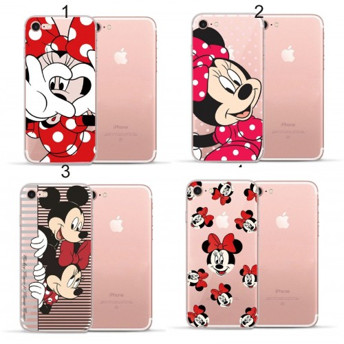 COVER Custodia case silicone minnie cartoni disney per iphone 5 6 6S 7 8 Plus X