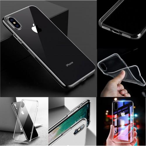 COVER Custodia case silicone preformato para bordi camera per iphone X XR XS Max