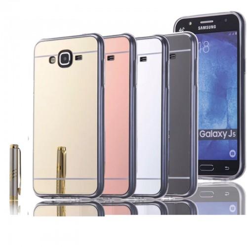 COVER Custodia case silicone retro effetto specchio per Samsung Galaxy J5 J500