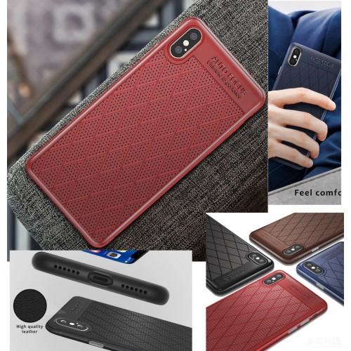COVER Custodia case silicone traspirante antiurto per apple iphone X XR XS Max