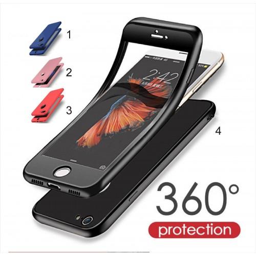 COVER Custodia case soft silicone copertura a 360° per iphone 6 6S 7 7S 8 Plus