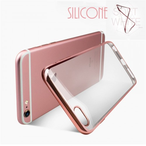 COVER Custodia case soft tpu con parabordo placcato per iphone 6 6S 7 7S Plus