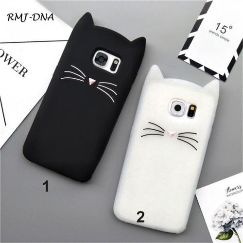 COVER Custodia coque kitty cat silicone per samsung J1 J2 J3 J5 J7 2016 17 prime