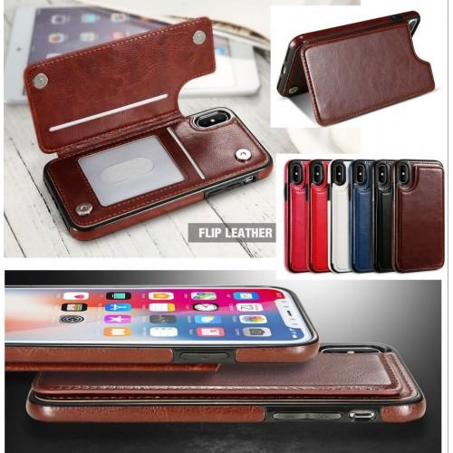 COVER Custodia elegante pelle slot carte di credito per apple iphone X XR XS Max