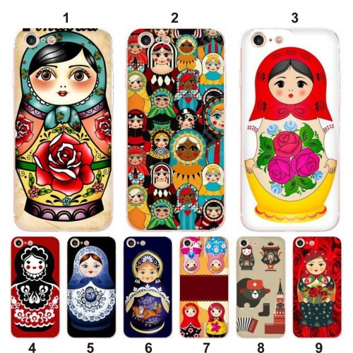 COVER Custodia in silicone Matryoshka per apple iphone 5 6 7 8 Plus X XS Max XR