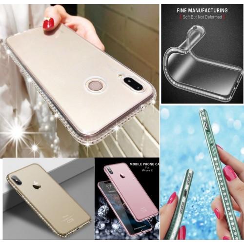 COVER Custodia in silicone strass diamanti antiurto per apple iphone X XR XS Max