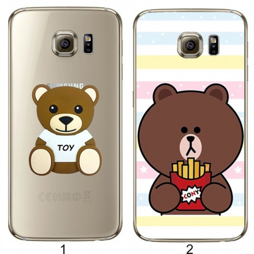 COVER Custodia orso teddy plastic cartoon 3D per Samsung Galaxy J1 J3 J5 J7 2016