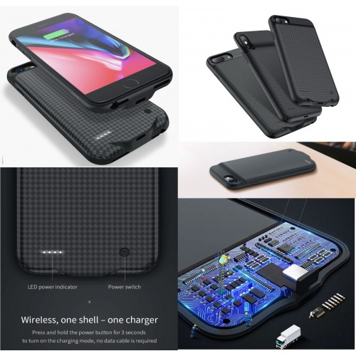 COVER Custodia powerbank batteria 2800/3500 mah per apple iphone 6 7 8 Plus X XS