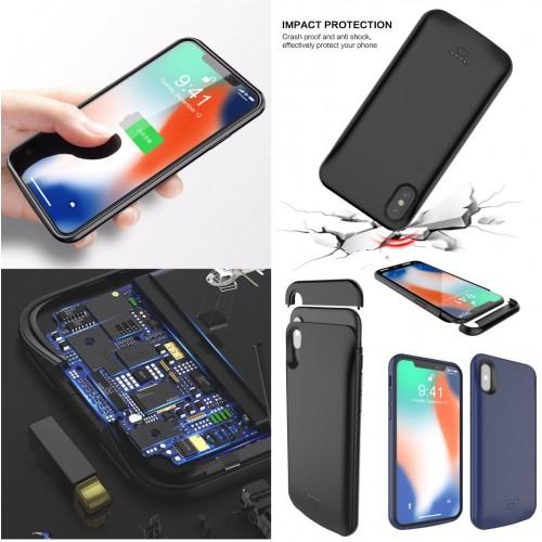 COVER Custodia powerbank batteria 4000/5500 mah apple iphone 6 7 8 Plus X XR XS