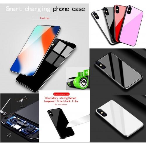 COVER Custodia powerbank carica batteria 5000/6000 mah apple iphone X XS XS Max