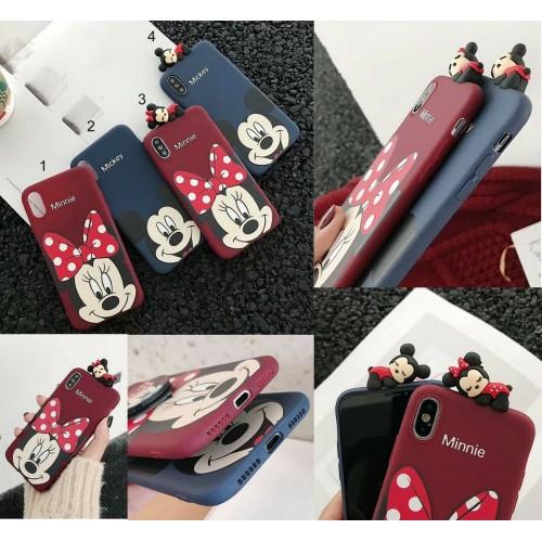 COVER Custodia silicon antiurto minnie mickey per apple iphone 6 7 8 X XR XS Max