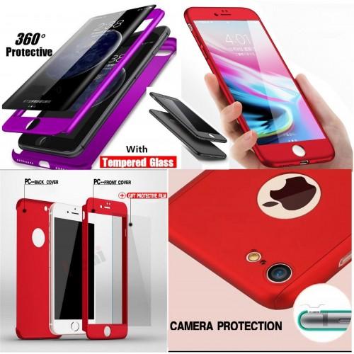 COVER Custodia silicon protezione 360° fronte/retro per apple iphone X XR XS Max