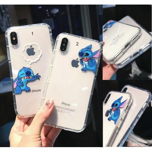 COVER Custodia silicone antiurto stitch 3d per apple iphone 6 7 8 X XR XS Max
