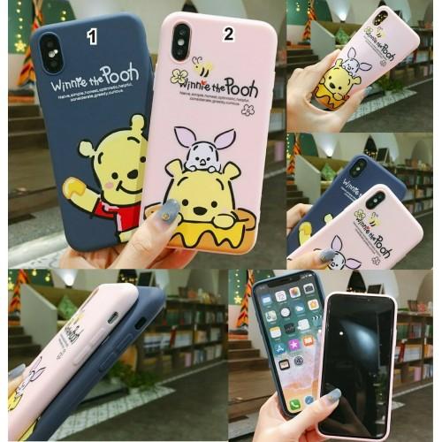 COVER Custodia silicone antiurto winnie orso per apple iphone 6 7 8 X XR XS Max