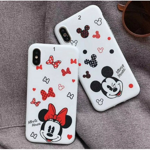 COVER Custodia silicone cartoni minnie mickey per apple iphone 6 7 8 X XR XS Max