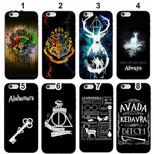 COVER Custodia silicone mago harry potter cartoon per iphone SE 5 6 7 8 Plus X