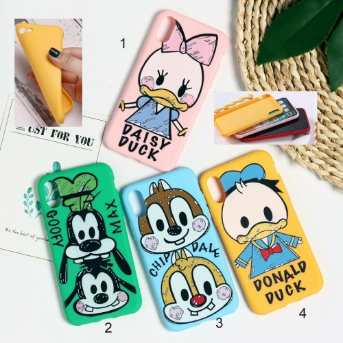 COVER Custodia silicone max chip duck daisy per apple iphone 6 7 8 X XR XS Max