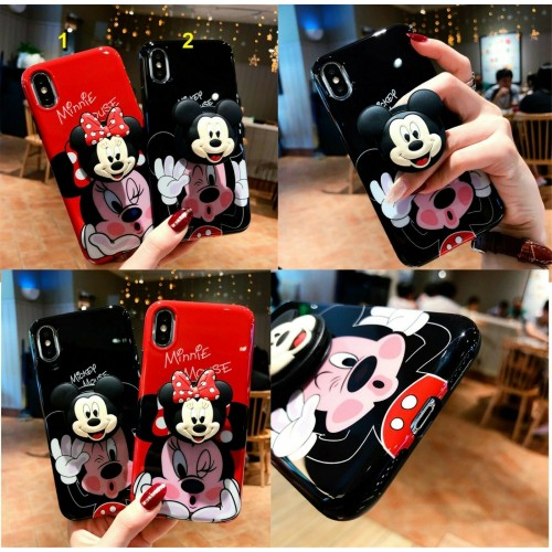 COVER Custodia silicone minnie mickey gancio per apple iphone 6 7 8 X XR XS Max