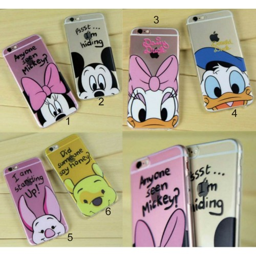 COVER Custodia silicone minnie mickey pig duc per apple iphone 6 7 8 X XR XS Max