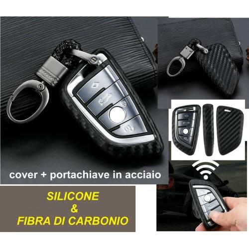 COVER + PORTACHIAVE BMW X1 X4 X5 X6 540 740 750 1 2 5 218i TELECOMANDO silicone