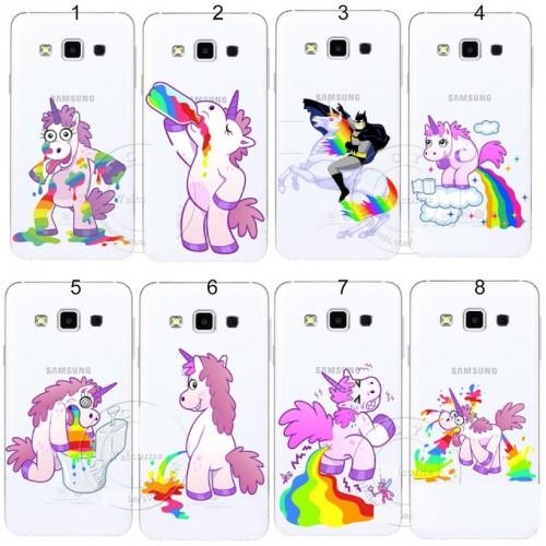 COVER custodia Case plastica unicorno 3D per Samsung Galaxy A3 A5 A7 A8 J1 J5 J7