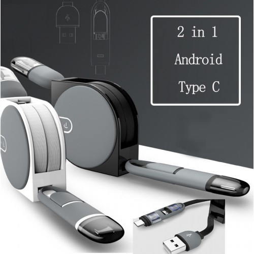 Cavo Micro USB Type-C 3 pin 2 in 1 Per  Android caricabatterie LG Huawei Samsung