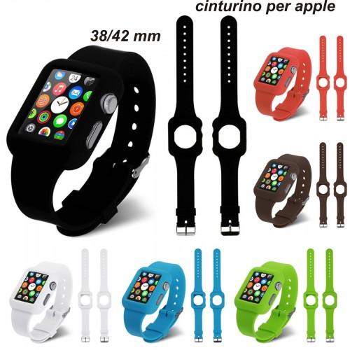 Cinturino IN SILICONE BRACCIALETTO SPORT BAND Ricambio per Apple Watch 38/42 mm