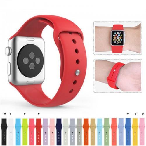 Cinturino TOP SILICONE BRACCIALETTO SPORT BAND Ricambio per Apple Watch 38/42 mm