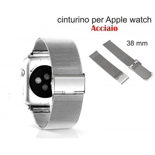Cinturino TOP acciaio inox BRACCIALETTO  BAND Ricambio per Apple Watch 38 mm