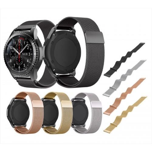 Cinturino acciaio inx 22mm Ricambio smart Watch Samsung S3 Gear Classic/frontier