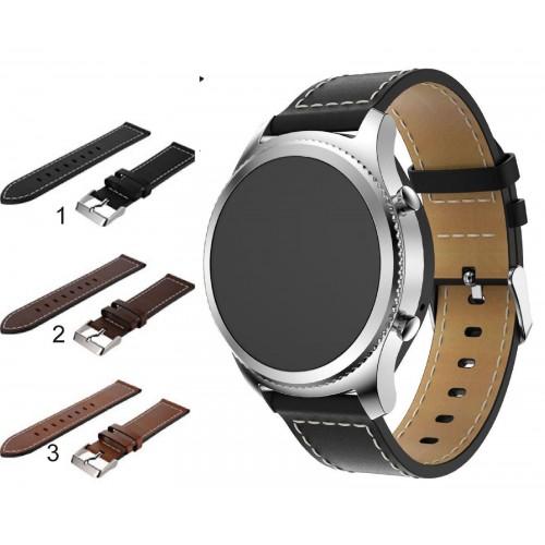 Cinturino cuoio 22mm Ricambio per smart Watch Samsung S3 Gear Classic & frontier
